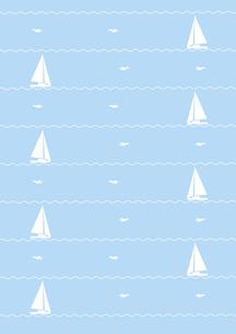 ヨットとカモメの背景の素材 [FYI00466218]