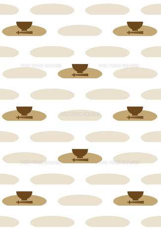 お椀と箸の背景の素材 [FYI00466232]