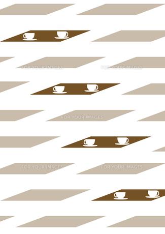 コーヒーカップとテーブルの背景の素材 [FYI00466234]