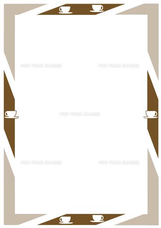 コーヒーカップとテーブルのフレームの写真素材 [FYI00466240]