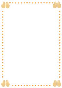 ハートマークと手のひらのフレームの素材 [FYI00466242]