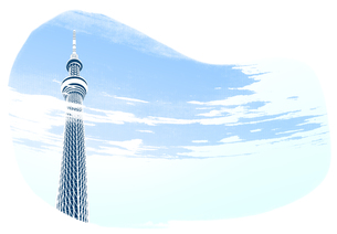 雲がかかるスカイツリーの素材 [FYI00466261]