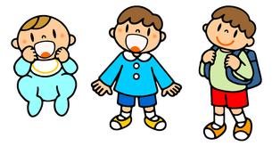 男性の一生 誕生から幼稚園から小学校入学の写真素材 [FYI00466368]