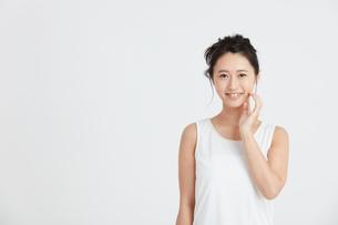 肌の綺麗な女性の写真素材 [FYI00466382]