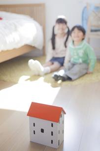 子供部屋で遊ぶ兄弟の写真素材 [FYI00468476]