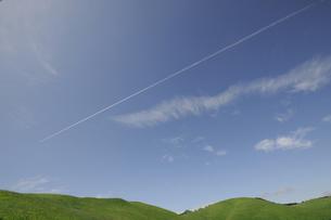 緑の丘と青空の写真素材 [FYI00469419]