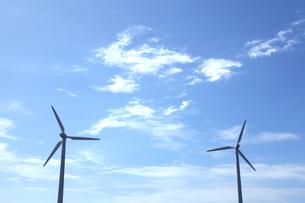 青空と風車の写真素材 [FYI00469458]