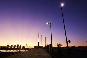 晴海大橋より望む東雲の夜明けの写真素材 [FYI00469858]