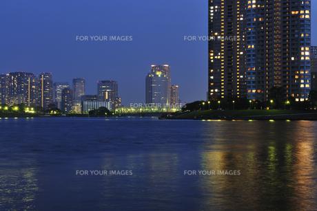 越中島公園の夕景の写真素材 [FYI00470078]