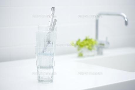 グラスに入ったスプーンの素材 [FYI00470321]
