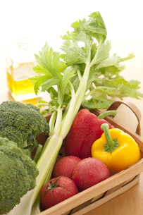 かごに入った野菜の素材 [FYI00470462]