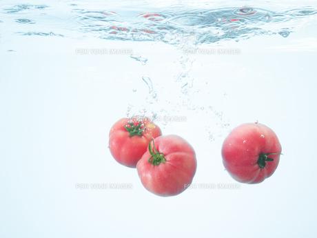 水の中のトマトの素材 [FYI00470621]