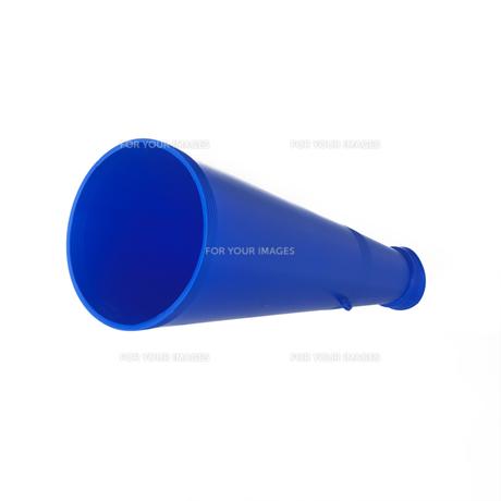 青いメガフォンの写真素材 [FYI00471170]