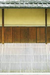 武家屋敷の壁の写真素材 [FYI00471221]