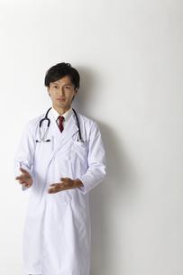 首に聴診器を下げた男性医師のポートレートの写真素材 [FYI00471606]