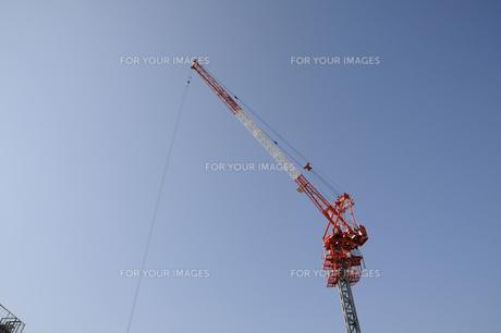建設用クレーンの写真素材 [FYI00473607]