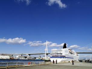港に停泊する豪華客船の写真素材 [FYI00473781]