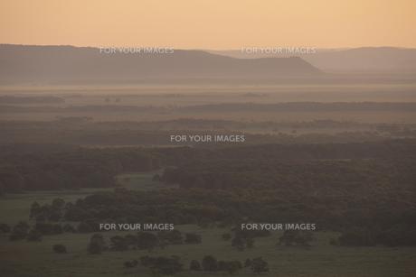 朝もやが色付く釧路湿原の写真素材 [FYI00474502]