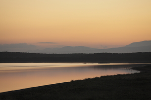 野付半島夕景の写真素材 [FYI00474506]