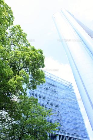 大阪市北区のビル街の素材 [FYI00474803]