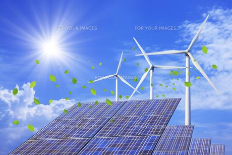 太陽光発電と風力発電の素材 [FYI00475154]