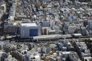 高田馬場周辺の空撮の写真素材 [FYI00477138]