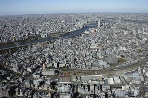 業平橋駅周辺の空撮の写真素材 [FYI00477150]