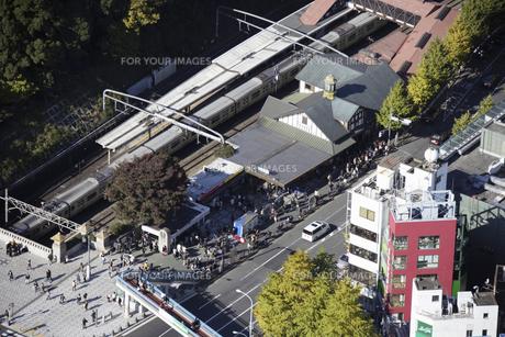 原宿駅周辺の空撮の写真素材 [FYI00477151]