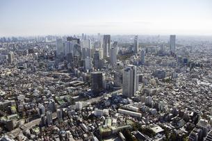 新宿副都心周辺の空撮の写真素材 [FYI00477207]