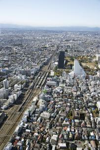 中野区周辺の空撮の写真素材 [FYI00477218]