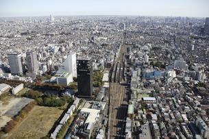 中野駅周辺の空撮の写真素材 [FYI00477236]