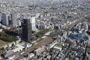 中野駅周辺の空撮の写真素材 [FYI00477238]