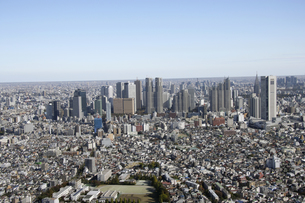 新宿副都心ビル群の空撮の写真素材 [FYI00477240]