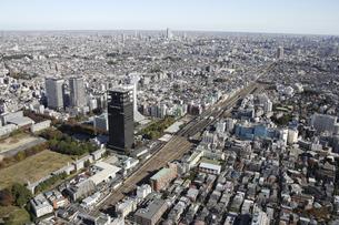 中野駅周辺の空撮の写真素材 [FYI00477243]