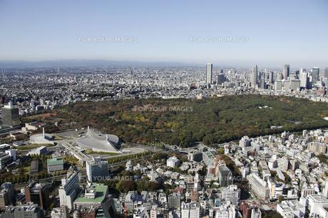 原宿駅周辺の空撮の写真素材 [FYI00477299]