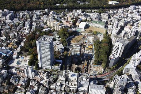 原宿駅周辺の空撮の写真素材 [FYI00477301]