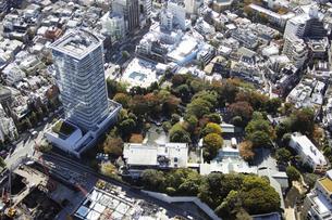 原宿駅周辺の空撮の写真素材 [FYI00477322]