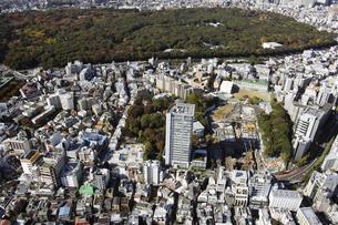 原宿駅周辺の空撮の写真素材 [FYI00477331]