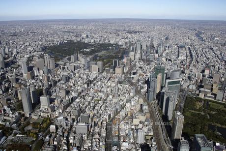 皇居周辺の空撮の写真素材 [FYI00477401]
