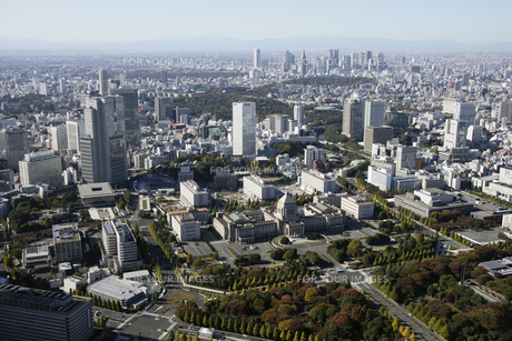 永田町周辺の空撮の写真素材 [FYI00477440]