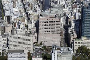 東京ドームシティ周辺の空撮の写真素材 [FYI00477488]