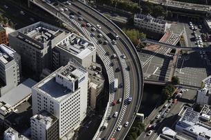 東京ドームシティ周辺の空撮の写真素材 [FYI00477490]
