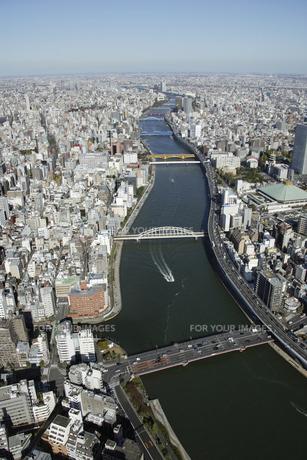 墨田区周辺の空撮の写真素材 [FYI00477502]