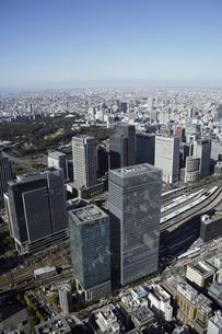 東京駅周辺の空撮の写真素材 [FYI00477514]