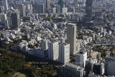 港区エリアの空撮の写真素材 [FYI00477575]