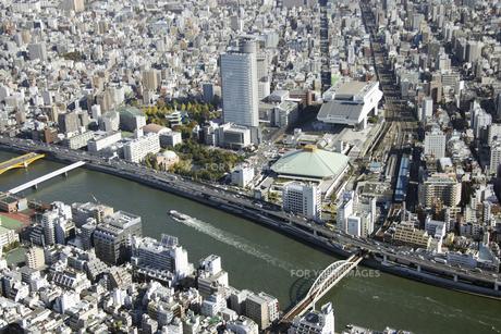 隅田川周辺の空撮の写真素材 [FYI00477577]