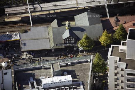 原宿駅周辺の空撮の写真素材 [FYI00477630]