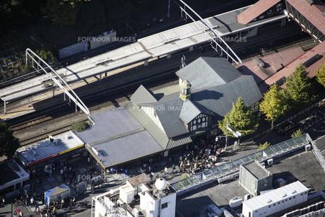原宿駅周辺の空撮の写真素材 [FYI00477638]