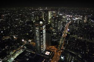 新宿駅周辺の空撮の写真素材 [FYI00477671]