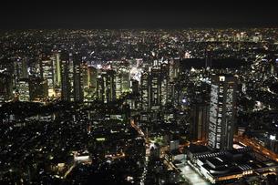 新宿副都心ビルの空撮の写真素材 [FYI00477673]